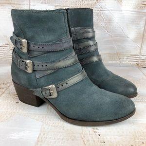 Miz Mooz Darien suede ankle western boot slate 9.5